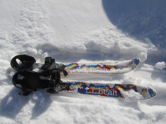 L. L. Bean Snowflake Skis for kids