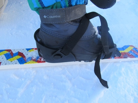 L. L. Bean Snowflake Cross Country Skis for kids