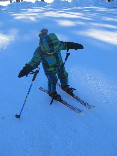 L.L. Bean Snowflake Cross Country Skis for kids