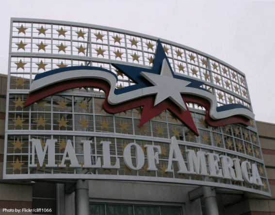 Mall of America- Photo by: Flickr/cliff1066