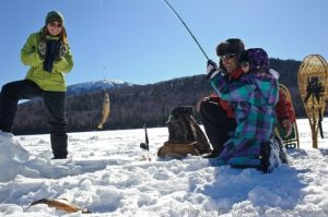 Winter Activities in Michigan: Ice fishing