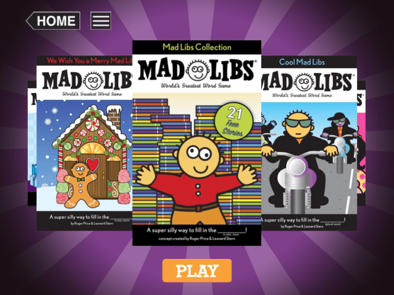 Mad Libs kids apps