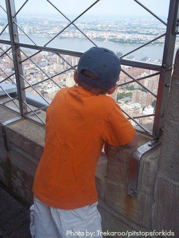 Head to the top of the Empire State Building when in New York City with Kids