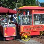 Food Allergies at Disney - Popcorn Cart at Disneyland