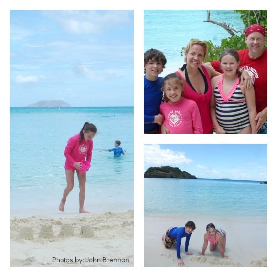 Beaches with family St. John