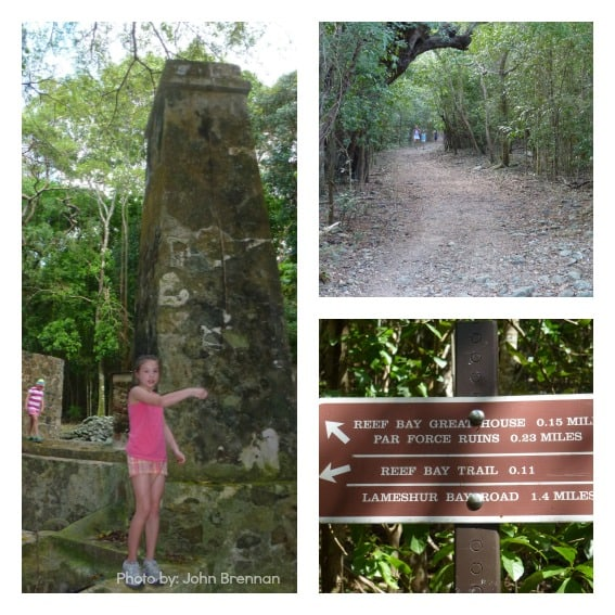 Family hiking Virgin islands national park