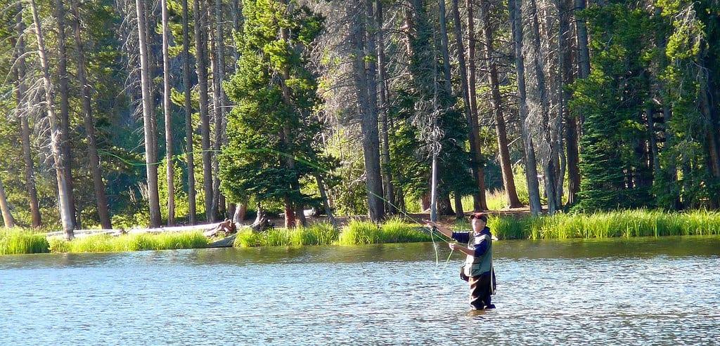 fishing rocky mountain national park photo