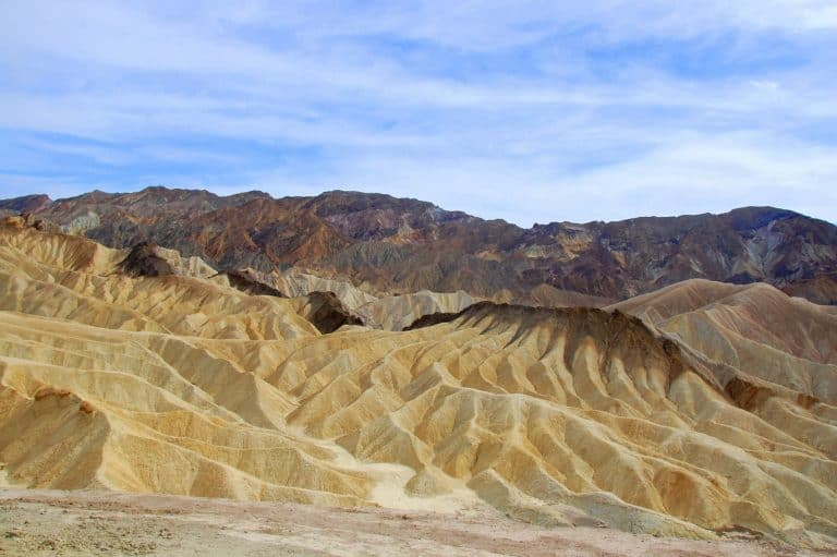 Zabriskie Point is a good place to visit in Death Valley
