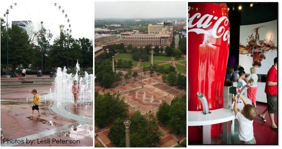 Downtown Atlanta Centennial Olympic Park Top things to do in Atlanta Georgia with Kids