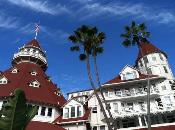 Hotel del Coronado turrets win a beach vacation