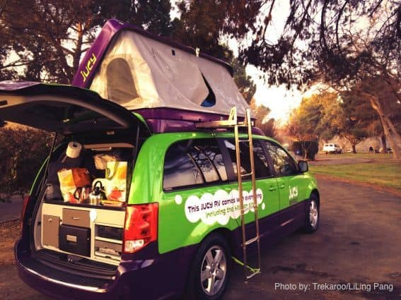 Roadtrip to Kern River Campground in a Jucy Campervan