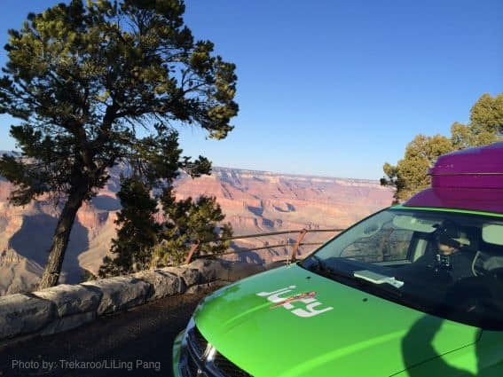 Roadtrip to Grand Canyon in a Jucy Campervan
