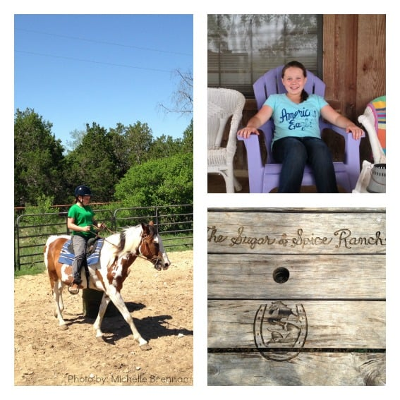 riding horses at Sugar and Spice Ranch