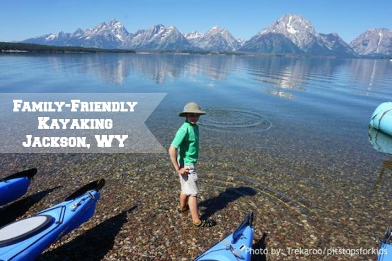 family kayaking jackson lake wyoming