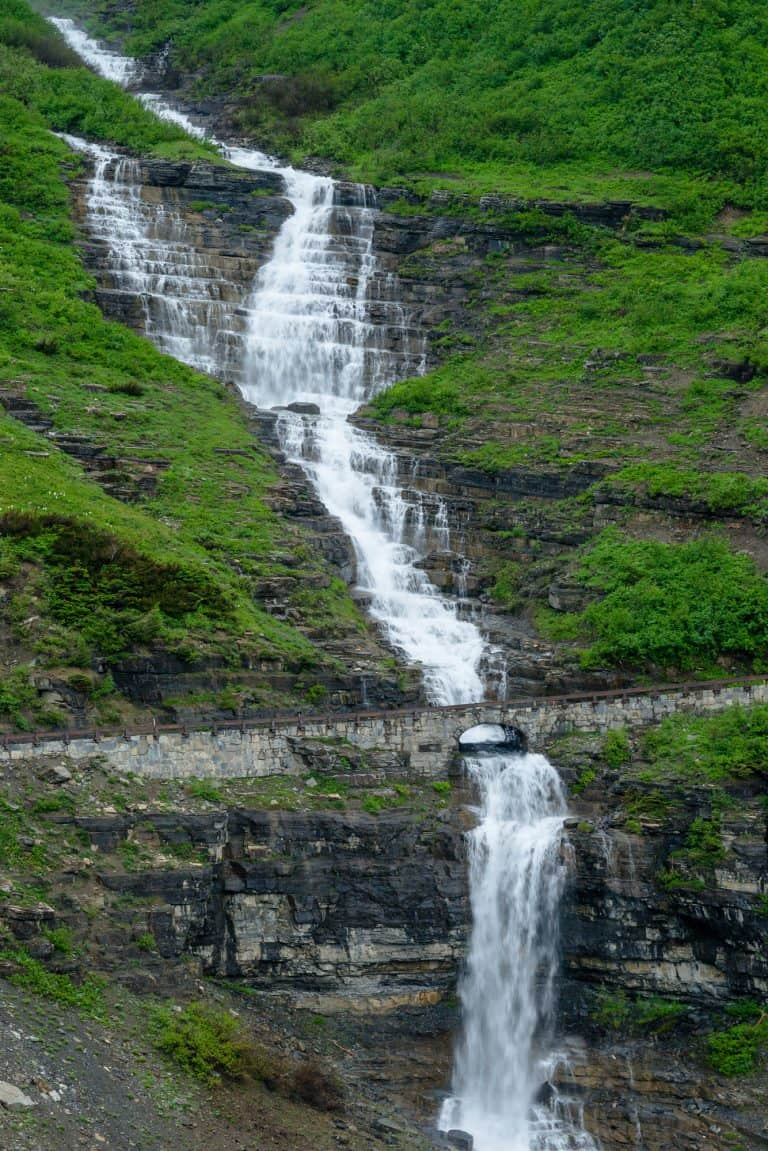 Waterfalls on Going to the Sun Road
