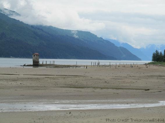 Juneau-Douglas tidal beach