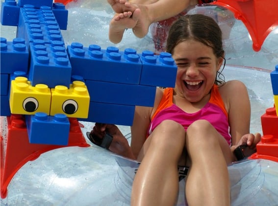 kids at legoland waterpark