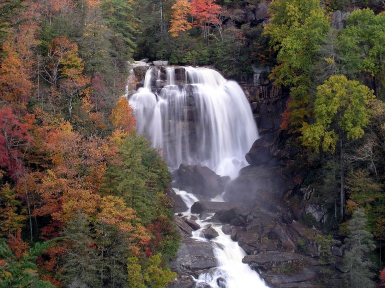 Whitewater Falls in North Carolina is one of the best waterfalls in the US