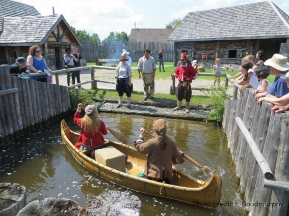 sainte-marie-among-the-hurons-waterway demonstration