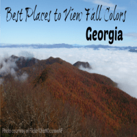 best places fall color, GA