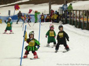 kids ski parade