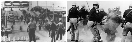 Bloody Sunday collage