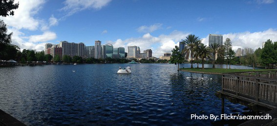 Top Orlando attractions: Lake Eola in Downtown Orlando
