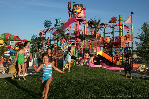 Splash Island interactive kids area with kid friendly slides and a giant dumping bucket 23