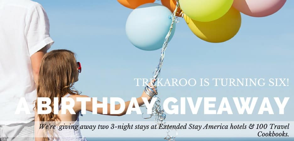 Trekaroo Birthday Bash - Extended Stay America Giveaway and Rewards