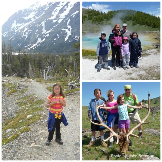 Family at Glacier and Yellowstone