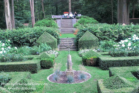 Exploring Music with Kids -Caramoor formal garden