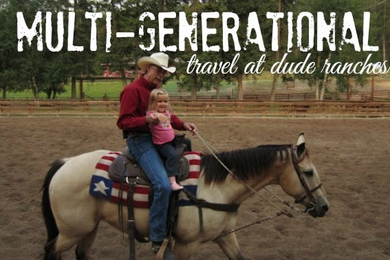 Multigenerational family vacation at a dude ranch