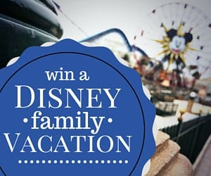 Enter to win a family vacation at Disneyland or Walt Disney World Resort- two families will win!