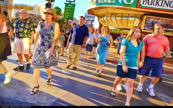 walking in Vegas