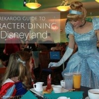 Character Dining at the Disneyland Resort