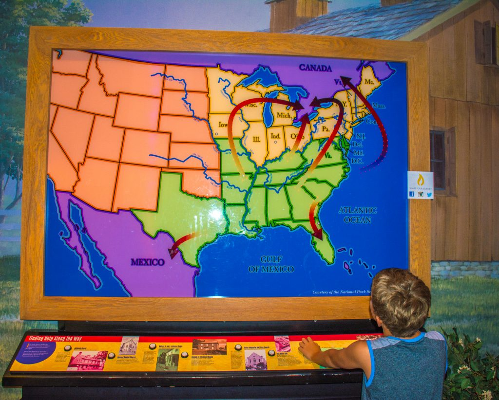 Things to Do in Cincinnati with kids include a visit to the Underground Railroad Museum