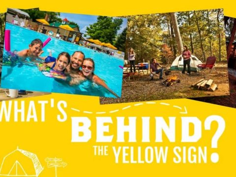 """KOA Family Camping: """"What's Behind the Yellow Sign?"""""""