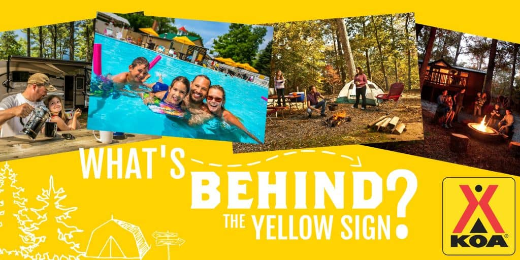 "KOA Family Camping: ""What's Behind the Yellow Sign?"" 1"