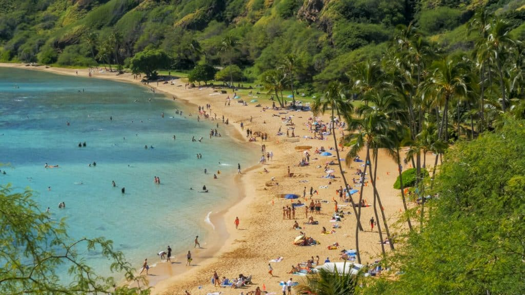 The best place to snorkel in Hawaii by Waikiki is Hanauma Bay