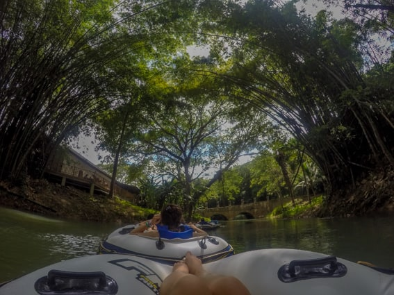 Float down a river in Jamaica with your family