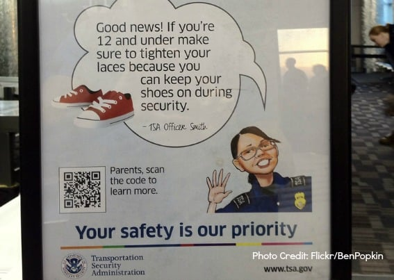Kids shoes and airport security
