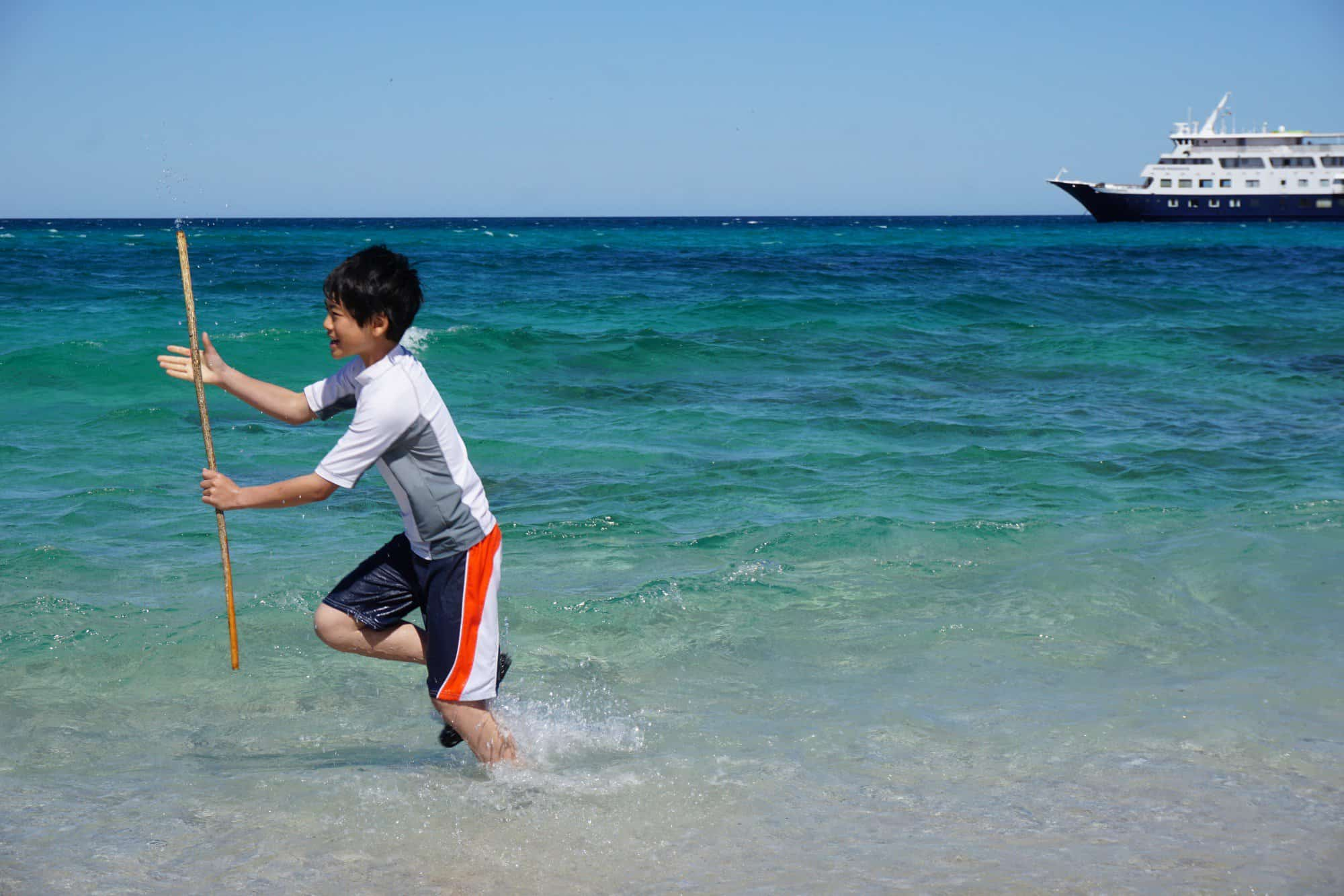 Travel with kids is not always stress-free. Embarking on a small shipwith Un-cruise reveals that rare mix of adventure, blissful relaxation, and education through travel.  Photo by: Brennan Pang