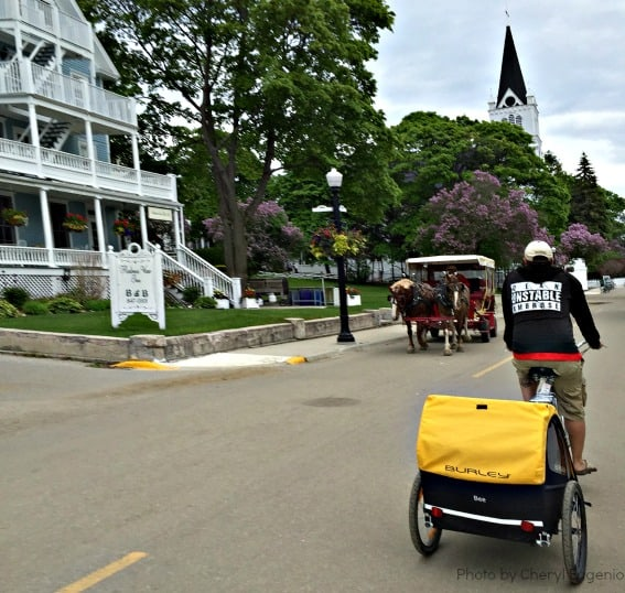 Biking the Streets of Mackinac Island Michigan Family Getaway