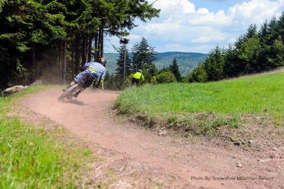 Downhill Mountain Biking at Snowshoe Mountain Resort