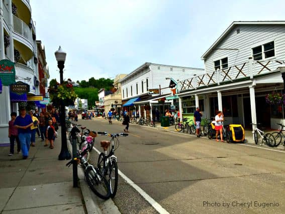 Downtown Mackinac Island Michigan Family Getaway