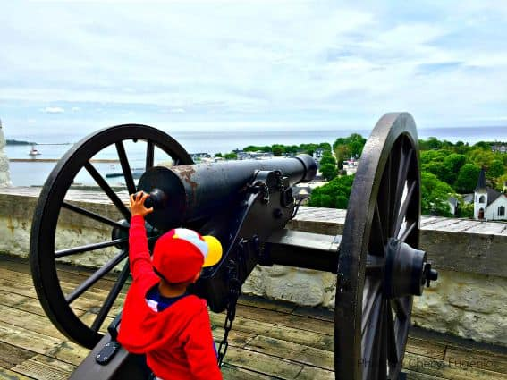 Fort Mackinac Cannon Mackinac Island Michigan Family Getaway