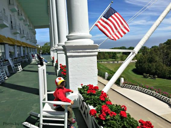 Grand Hotel Mackinac Island Michigan Kid Family Longest Porch Chair