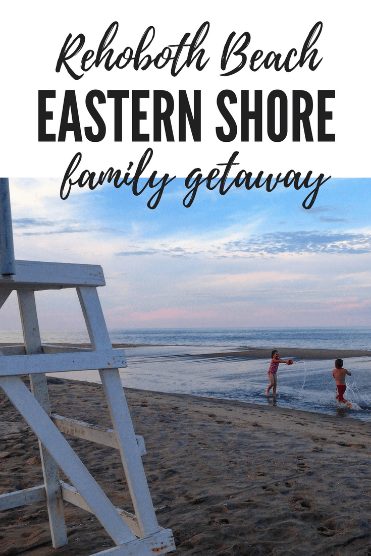 Experience the perfect East Coast beach vacation with your family on the Eastern Shore! Ride a Ferris wheel in Ocean City, Maryland or see the ponies on Assateague Island in Virginia. Enjoy a vacation in Rehoboth Beach, Delaware with the kids. #familytravel #beachvacation #delawarebeaches