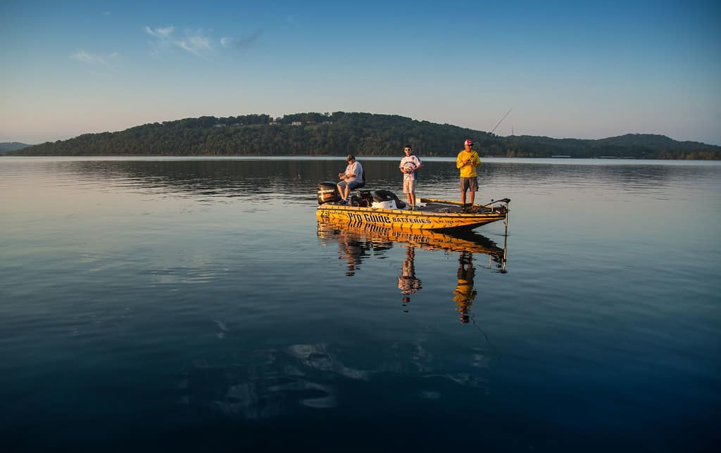 Fishing at table rock lake is one of the great things to do in Branson