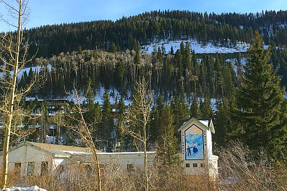 Beginner Skier amid Taos Ski Valley Children's School